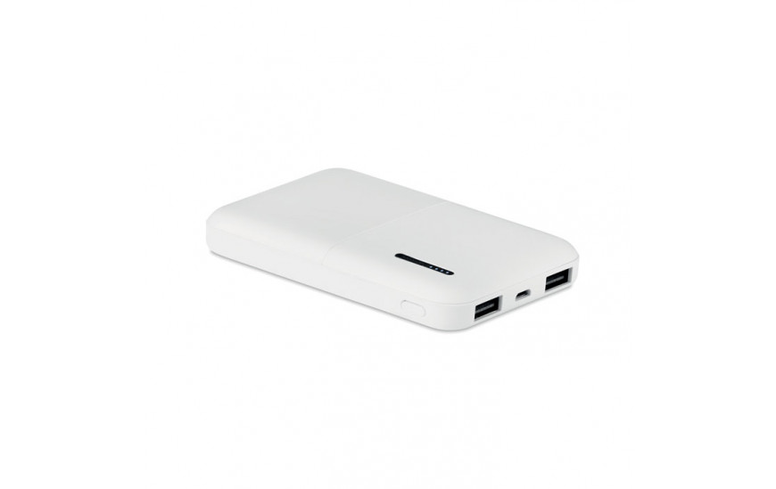 Power bank de 5.000 mAh en ABS Bimas power blanco